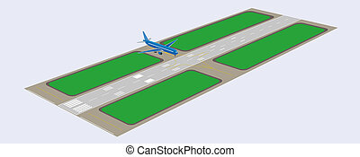Airport runway Perspective view Vector illustration Eps 10...