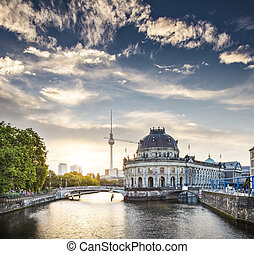 Berlin Morning - Berlin, Germany view of Museum Island and...