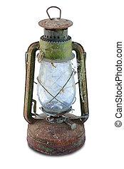Rusty Antique oil lamp