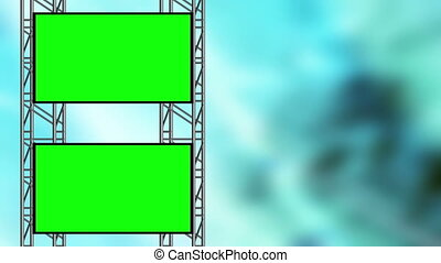 Blue abstract and Green Screen Loop