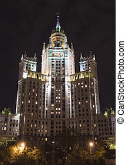 Kotelnicheskaya Embankment Building - Beautiful view of...