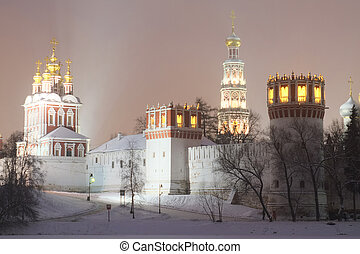 Novodevichy Convent - landscape with the image of...