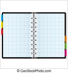 organizer graph - Illustrated graph paper in a note book...