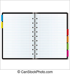 organizer blank - Illustrated diary or organiser with blank...