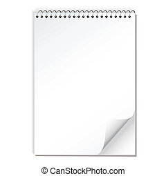 note paper spiral - Spiral bound illustrated note pad with...