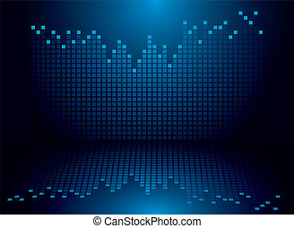 graphics blue - Blue and black graphics equaliser background...