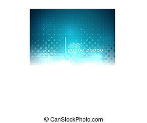 Blue shiny bokeh abstract vector background