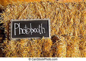 Photobooth Wedding Sign - Decor at this wedding includes...