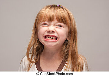 Silly Face Red Haired Girl - Portrait of an Adorable Red...