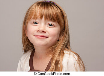 Quiet Red Haired Girl - Portrait of an Adorable Red Haired...