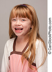 Youthful Red Haired Girl Laughing