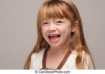 Laughing Red Haired Girl - Portrait of an Adorable Red...