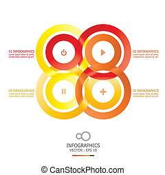 Modern Infinity Circle Overlap Design Template