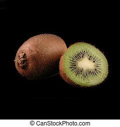 whole and cuted kiwi close up - whole and cuted kiwi macro...