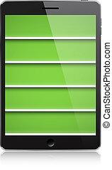 PDA bookshelf