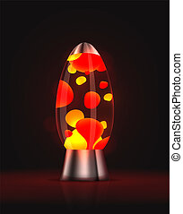 Lava lamp - Cool red glowing lava lamp. EPS10 vector.