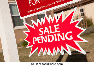Sale Pending Real Estate Burst Sign - Red Sale Pending Real...