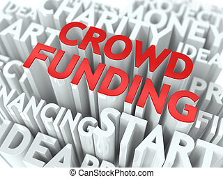 Crowd Funding Wordcloud Concept - Crowd Funding - Word in...