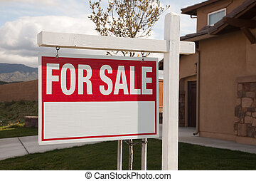 For Sale Real Estate Sign in Front of House Ready for Your...