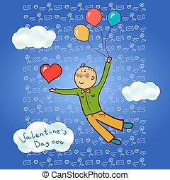 A man in love, Valentine's Day
