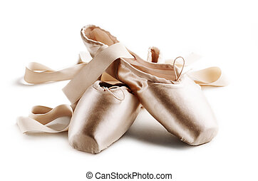 Pointe Shoes - Pointe shoes isolated over white background