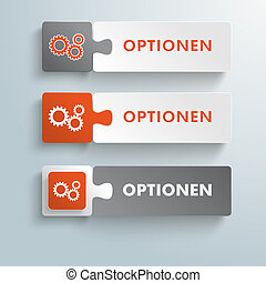 Button Puzzles Optionen PiAd - Infographic design on the...