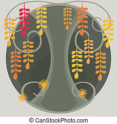 Fantastic Acacia Tree - Illustration cartoon abstract tree...