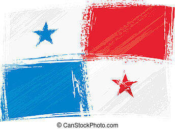 Grunge Panama flag - Panama national flag created in grunge...