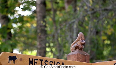 Wooden sign post where there is directions - Wooden post...