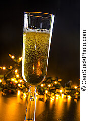 Sparkling Wine - Festive party time with sparkling wine and...
