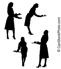 waitresses silhouette collection
