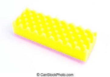 Sponge on isolated white background