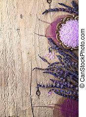 lavender and salt spa background