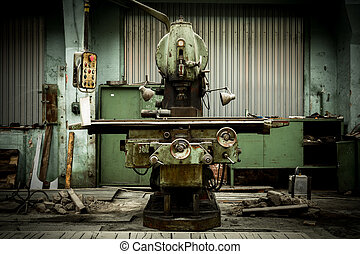 industrial machines in a factory