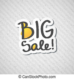 big sale, vector handwritten text