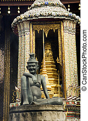 Wat Phra Kaeo Statue - Statue at the Buddhist temple of Wat...