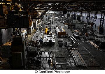 iron workshop interior