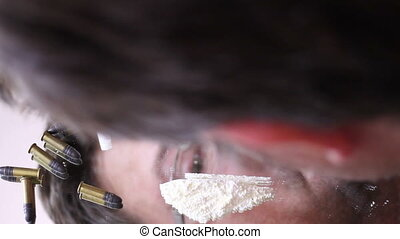 Man doing line of cocaine