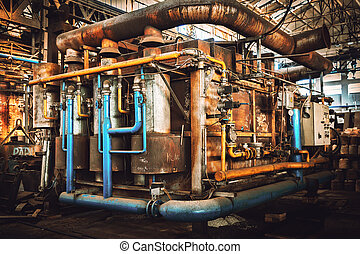 industrial furnace - furnace in an iron workshop