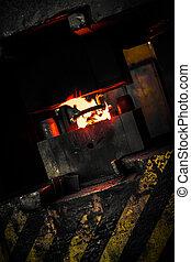 steam hammer closeup