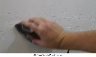 Sanding Drywall DIY Project - Fixing Drywall DIY Home Repair...