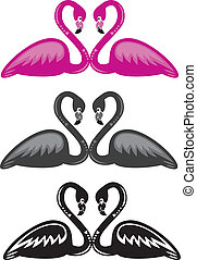 Flamingo Love - Illustrator 8 Vector art