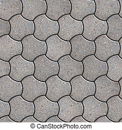 Paving Slabs Seamless Tileable Texture - Gray Pavement in...