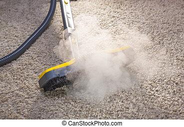 secos, vapor, LIMPADOR, ação