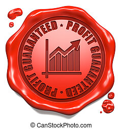 Profit Guaranteed - Stamp on Red Wax Seal - Profit...