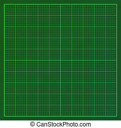 Green graph paper - Vector illustration of graph paper...