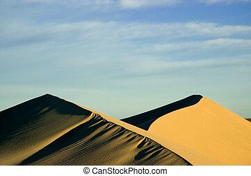 Sand dunes in Patagonia - Sand dunes in Puerto Piramides,...