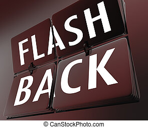 Flashback Words Retro Tile Clock Flipping Turn Back Time -...