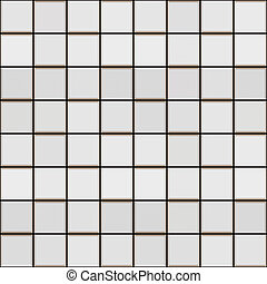 3d white tile pattern - seamless texture of white glossy...