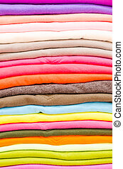Colorful cotton shirt texture